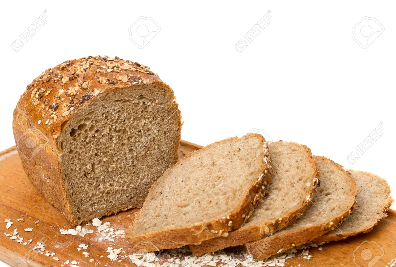 Sliced bread on a white background Stock Photo - 16312642
