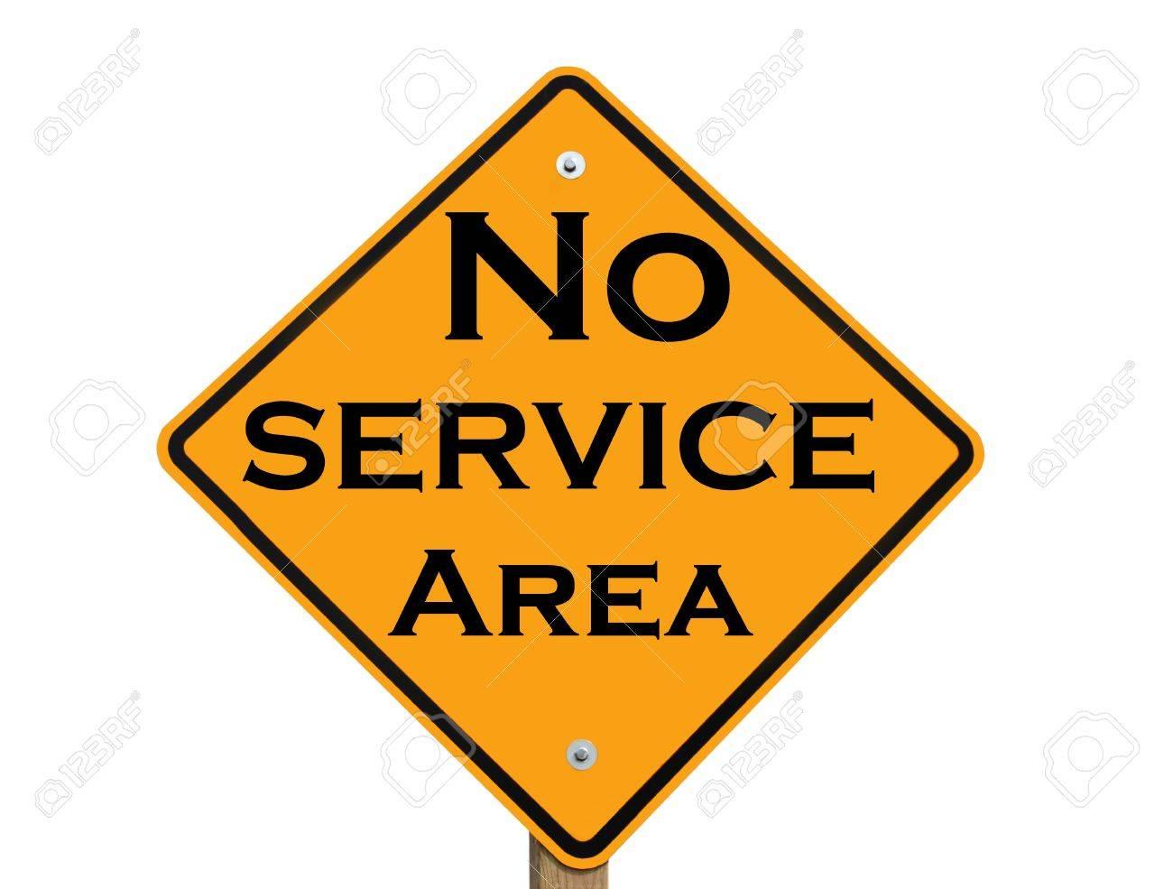 no service area warning sign Stock Photo - 8466028