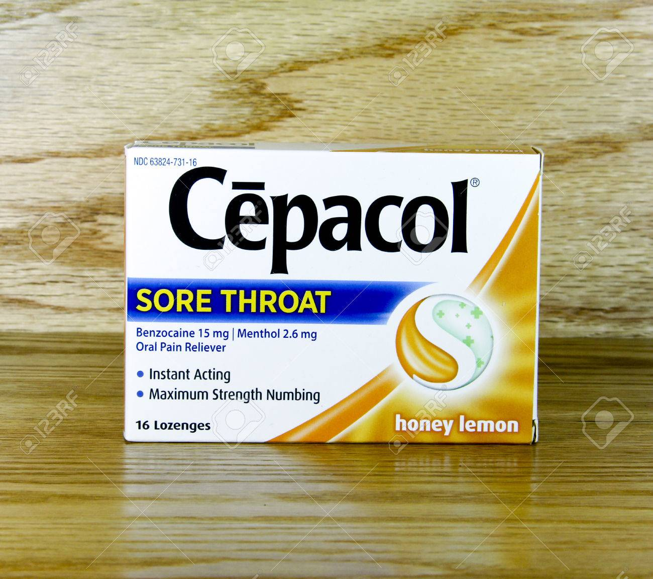 SPENCER , WISCONSIN Oct  4, 2014: Box of Cepacol Lozenges  Cepacol