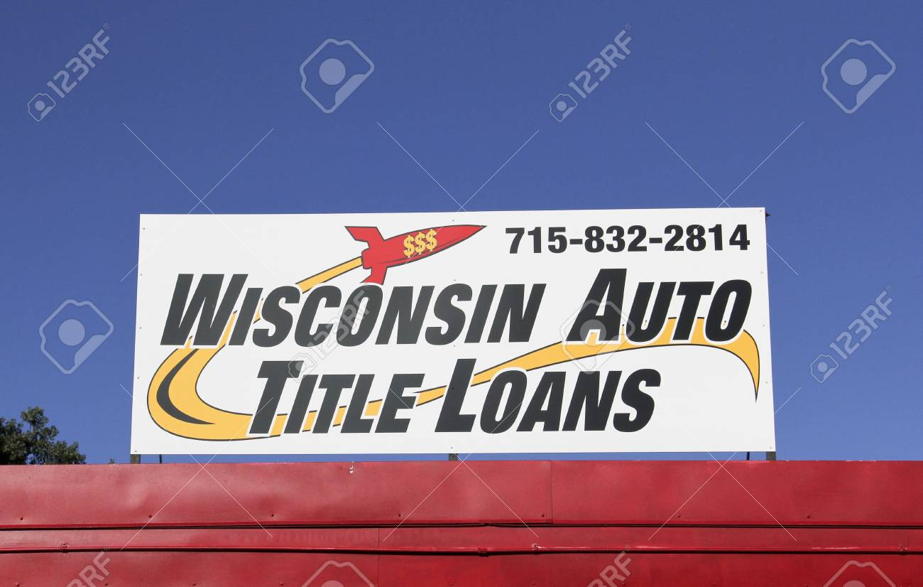 Spencer Wisconsin September   Wisconsin Aoto Title Loans Sign Wisconsin Auto