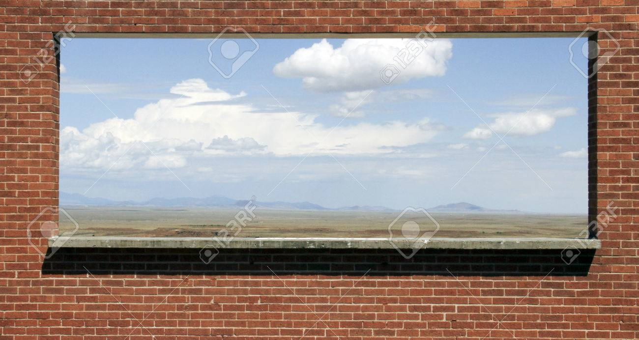 Opening frame in a brick wall provides ever changing scenery stock opening frame in a brick wall provides ever changing scenery stock photo 66432036 jeuxipadfo Images