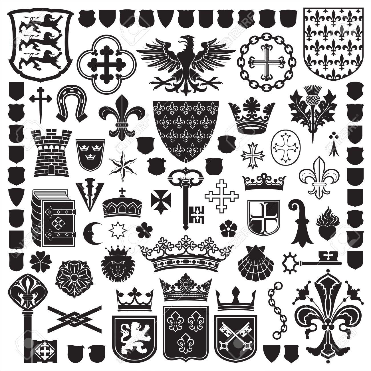 Heraldic Symbols And Decorations