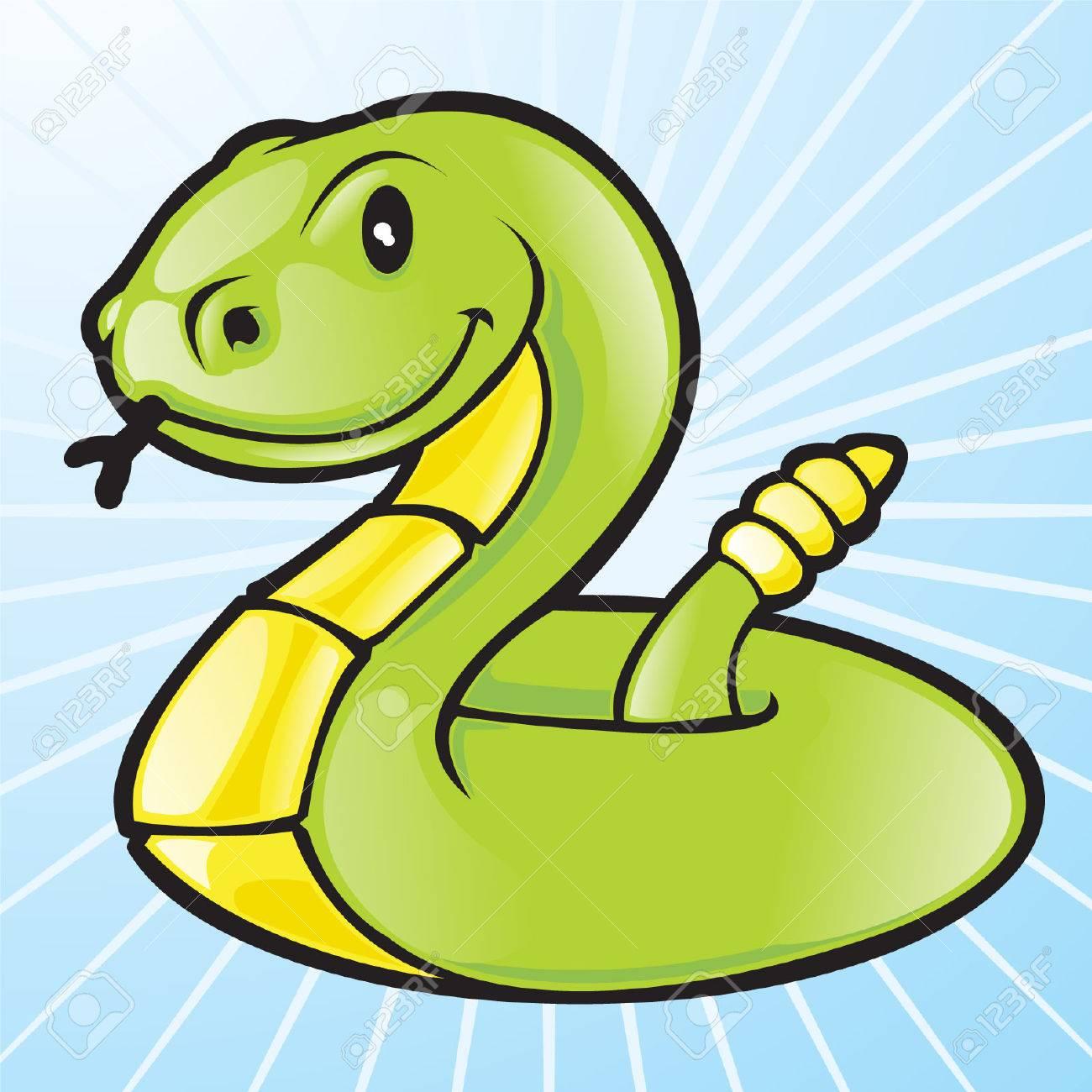 vector green snake Stock Vector - 4930369