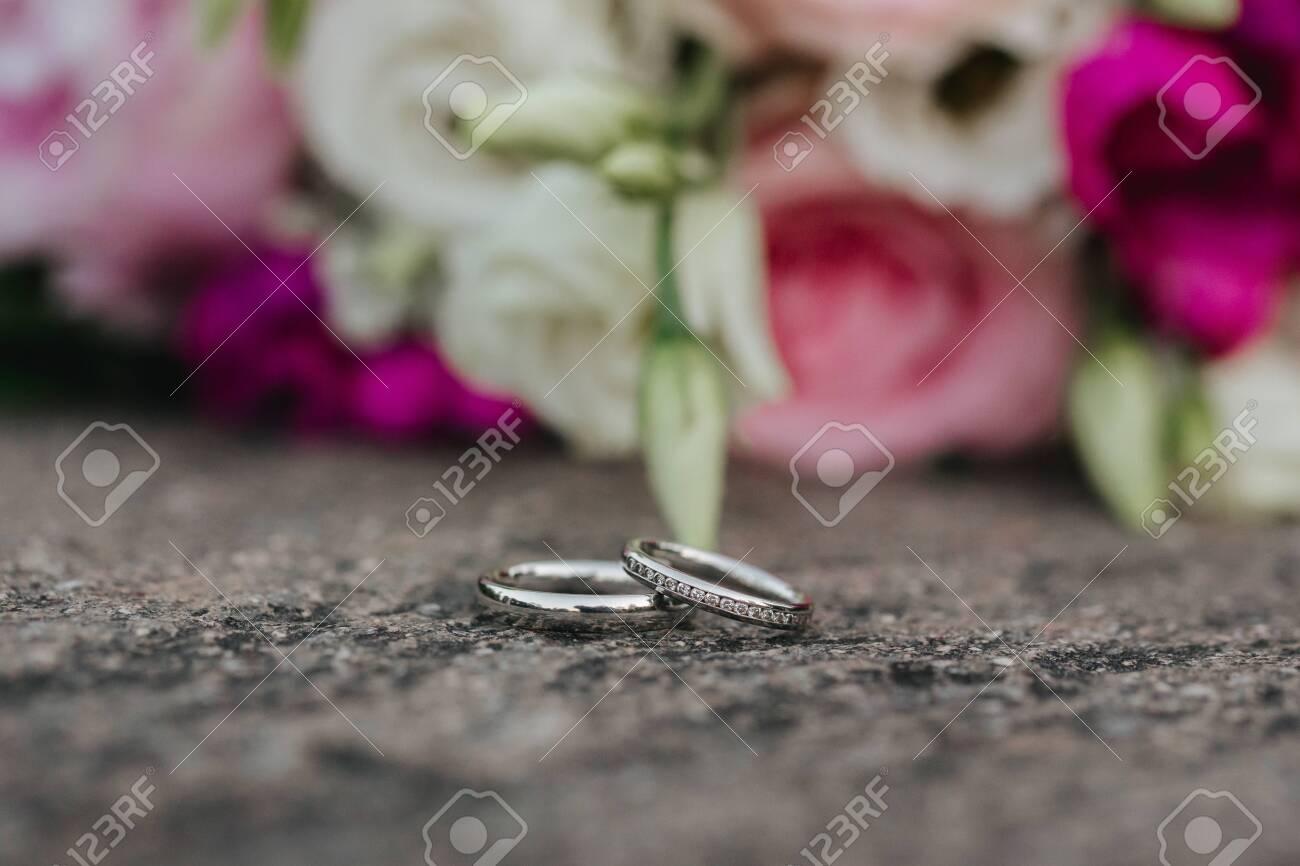 Wedding rings close up - 147491397