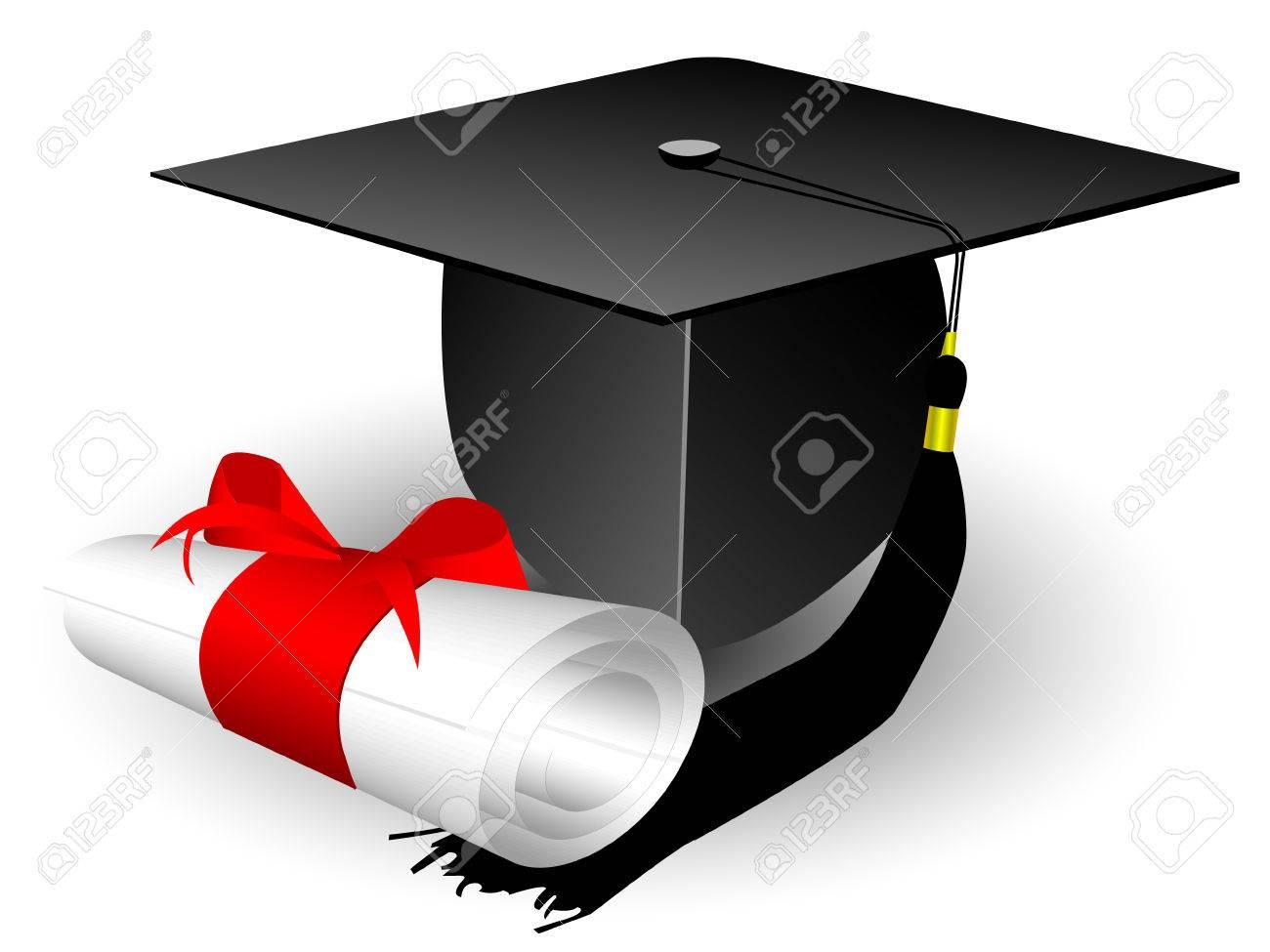cap and diploma Stock Vector - 8054366