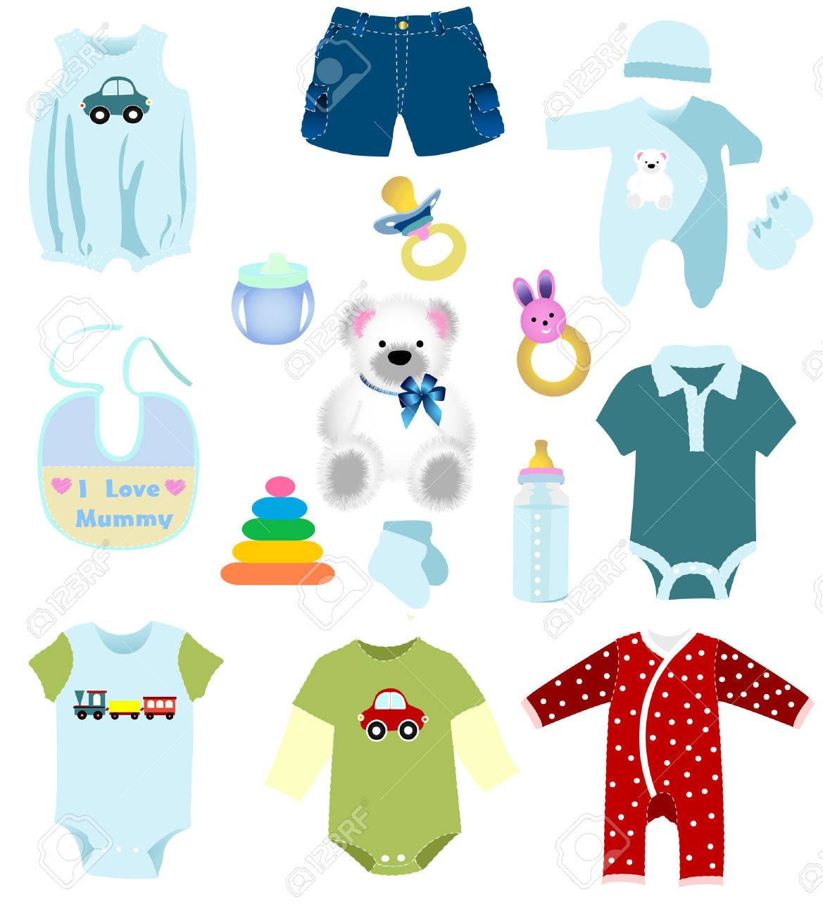 8050233 Baby boy elements Stock Vector shirt template clothes baby boy elements royalty free cliparts, vectors, and stock,Childrens Clothes Templates