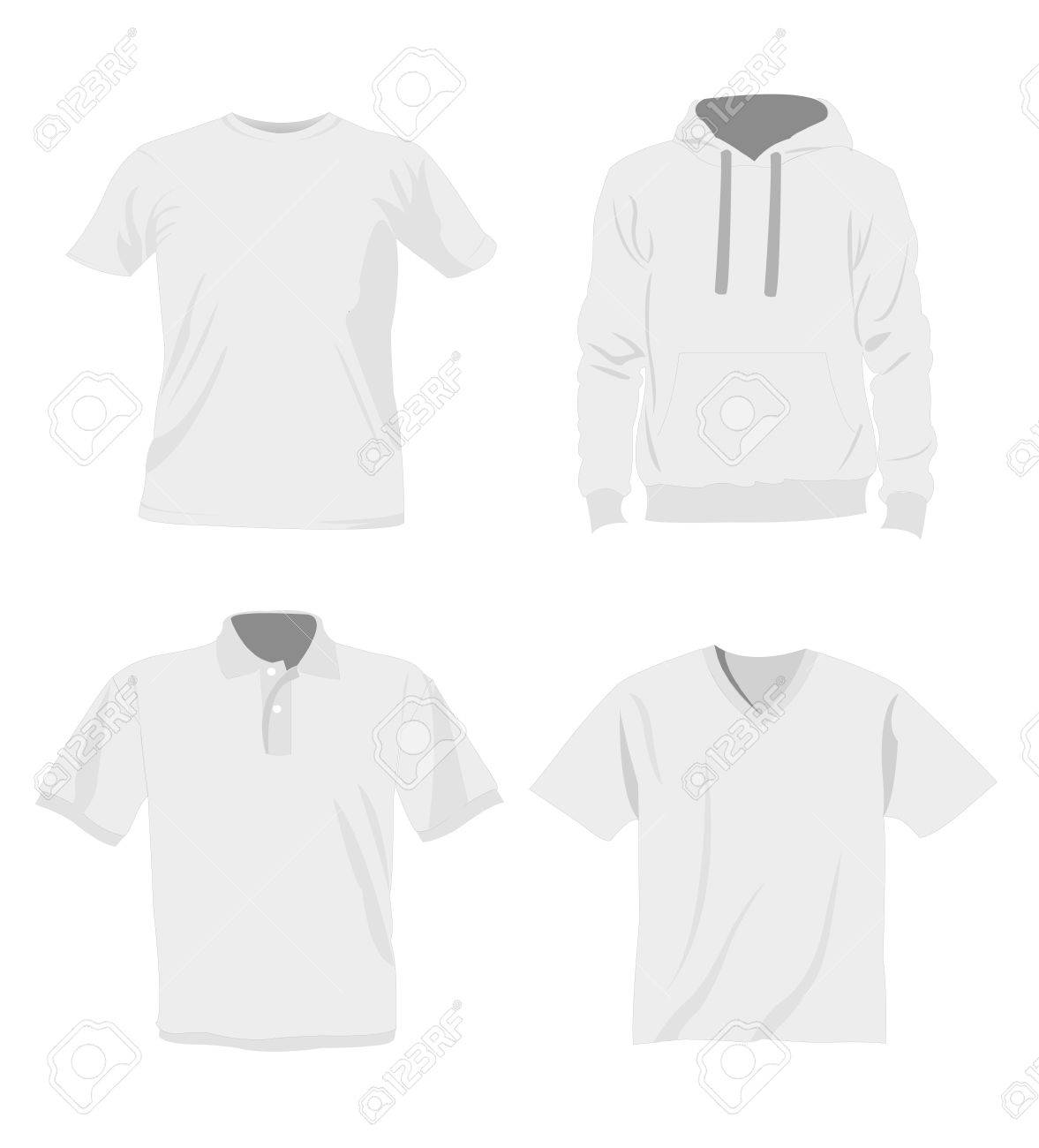 Man T-shirt Templates Royalty Free Cliparts, Vectors, And Stock ...