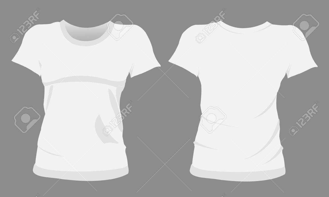 Woman Tshirt, T-shirt Templates Royalty Free Cliparts, Vectors, And ...