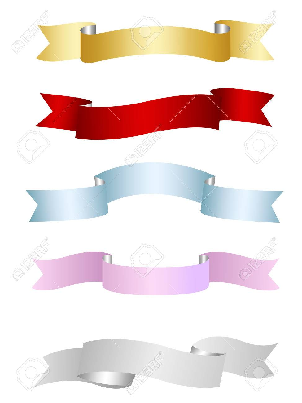 ribbons, banners set Stock Vector - 8149634