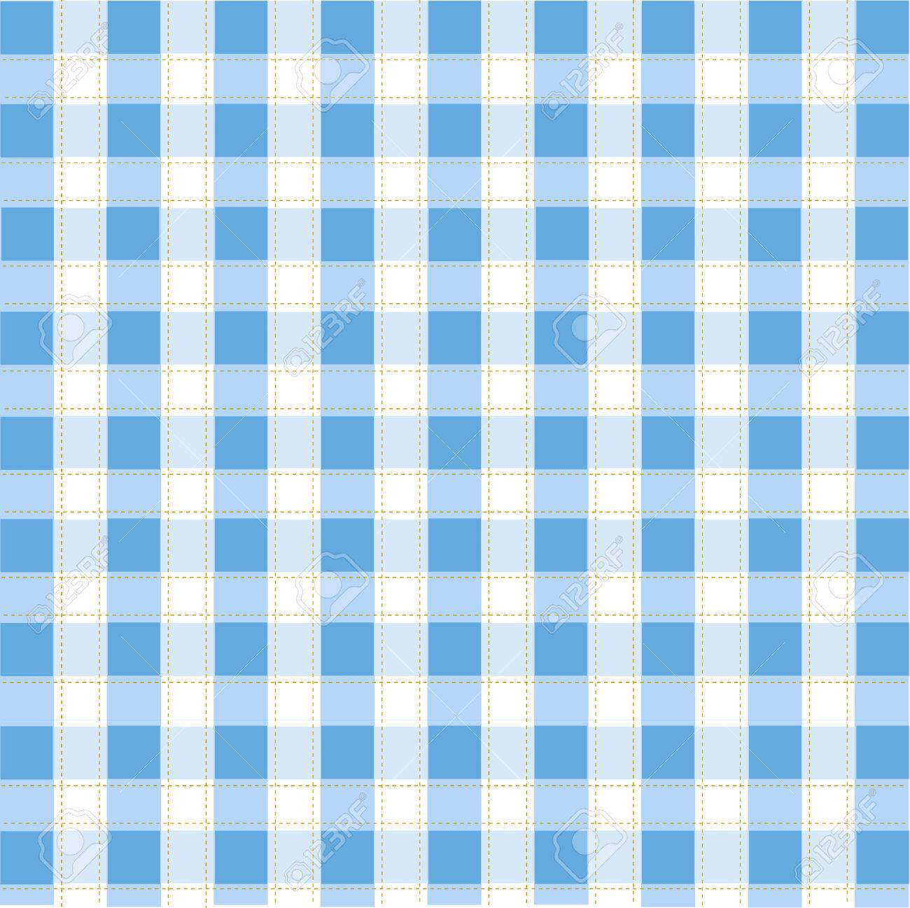 Seamless blue plaid pattern Stock Vector - 8647722