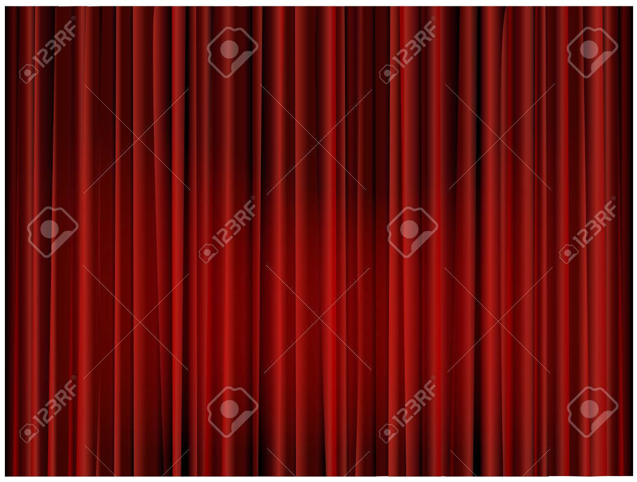Theater curtain background Stock Vector - 8915781