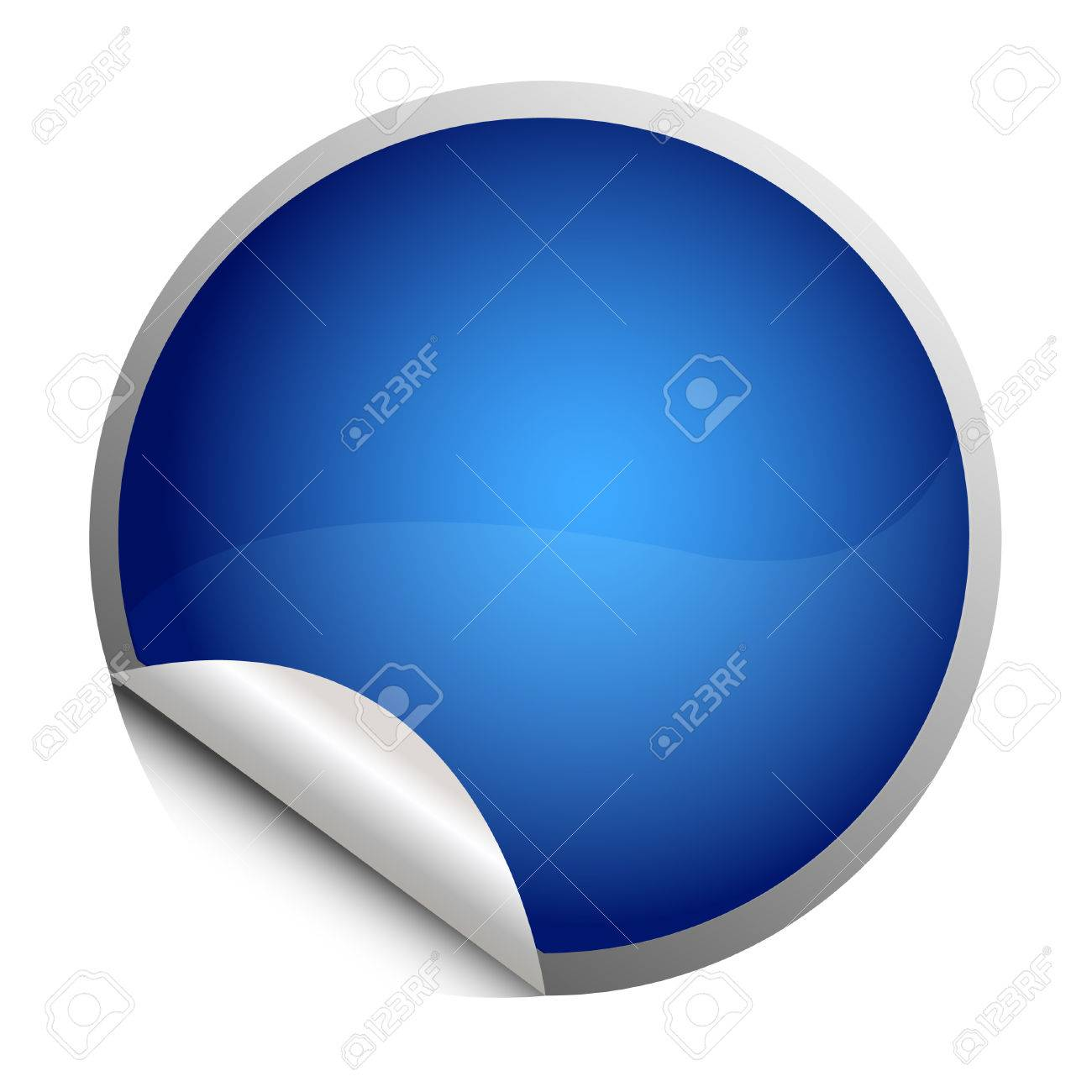blue sticker - postit Stock Vector - 8873055