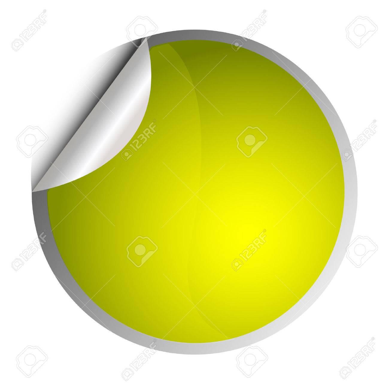 yellow sticker - postit Stock Vector - 8873053