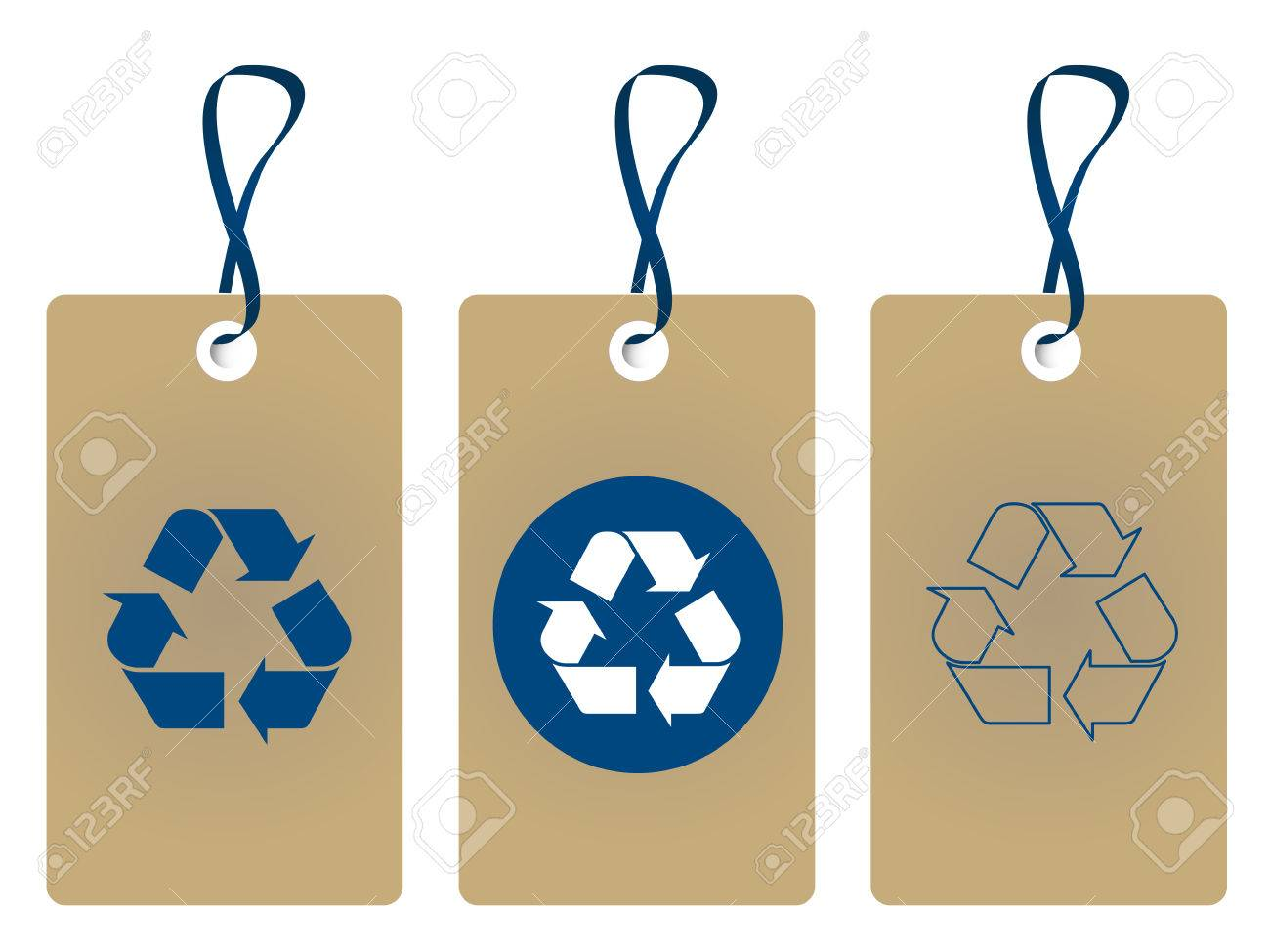 recycle tags Stock Vector - 8840015