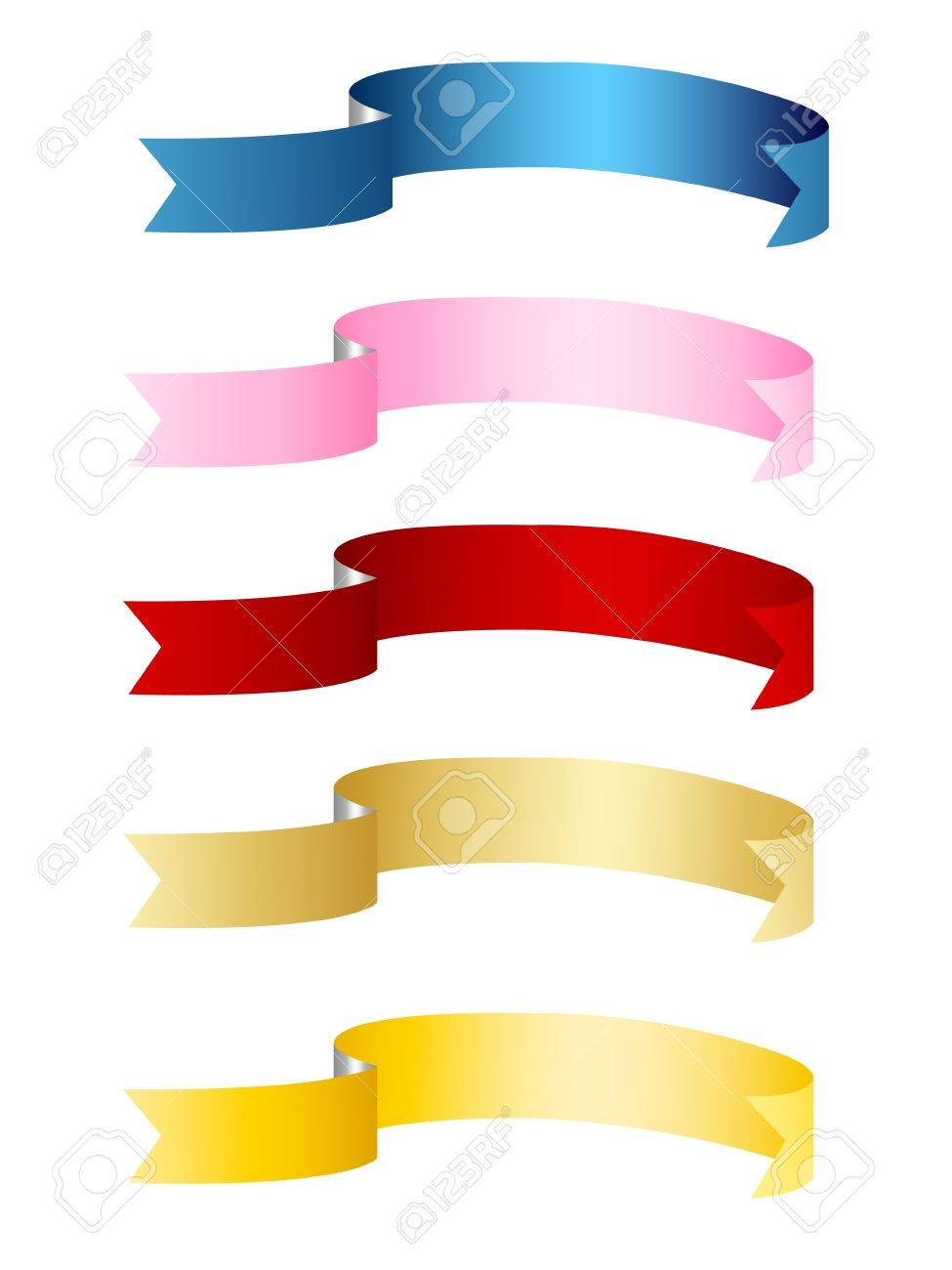 ribbons, banners Stock Vector - 9469279