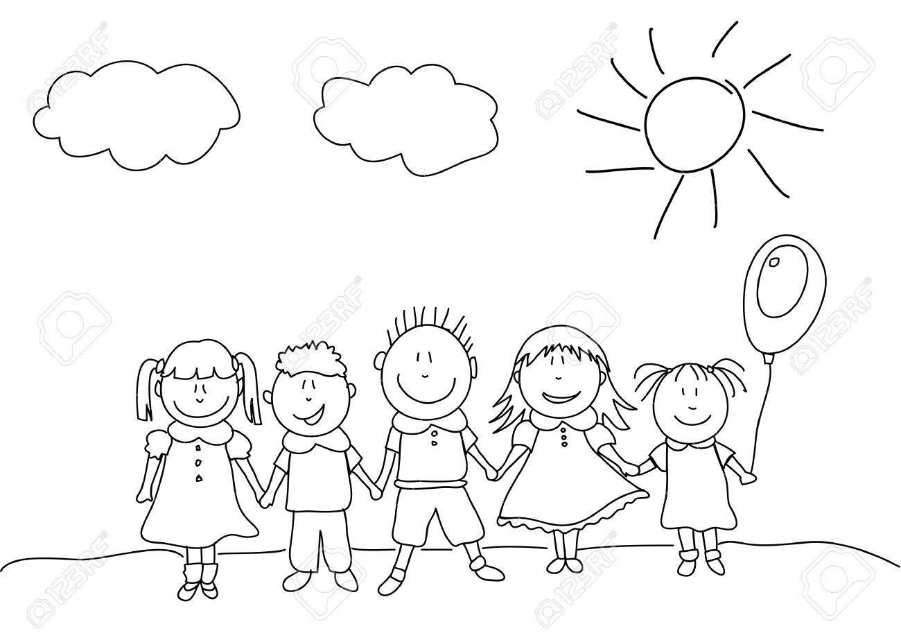 happy kids Stock Vector - 12066836