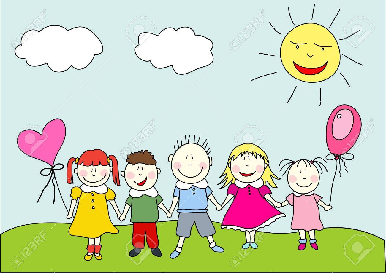 happy kids royalty free cliparts vectors and stock illustration