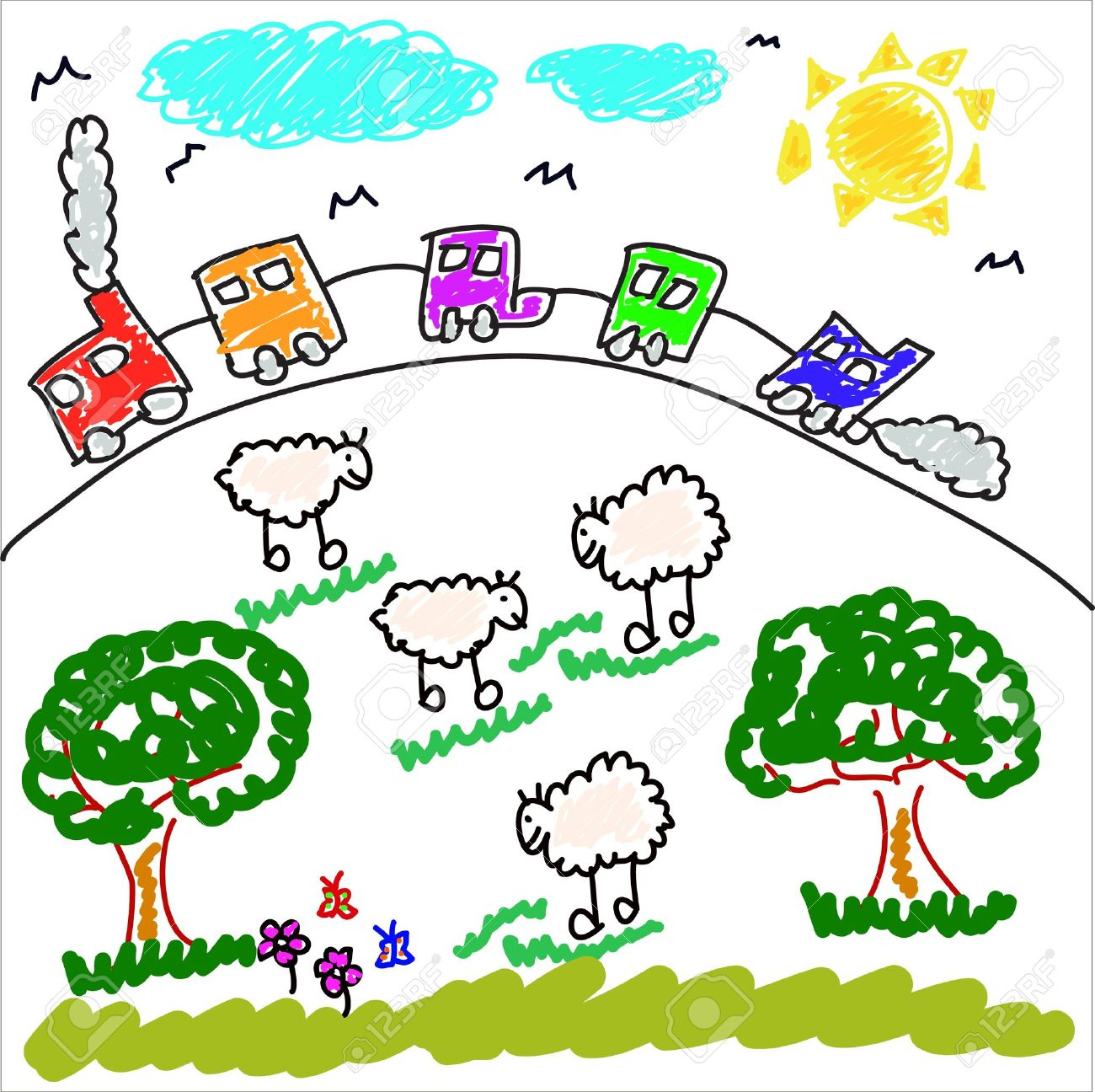 Children S Drawing Stock Photos Pictures Royalty Free Children