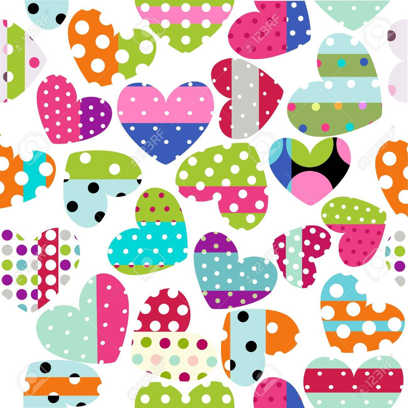 heart patches Stock Vector - 13110739