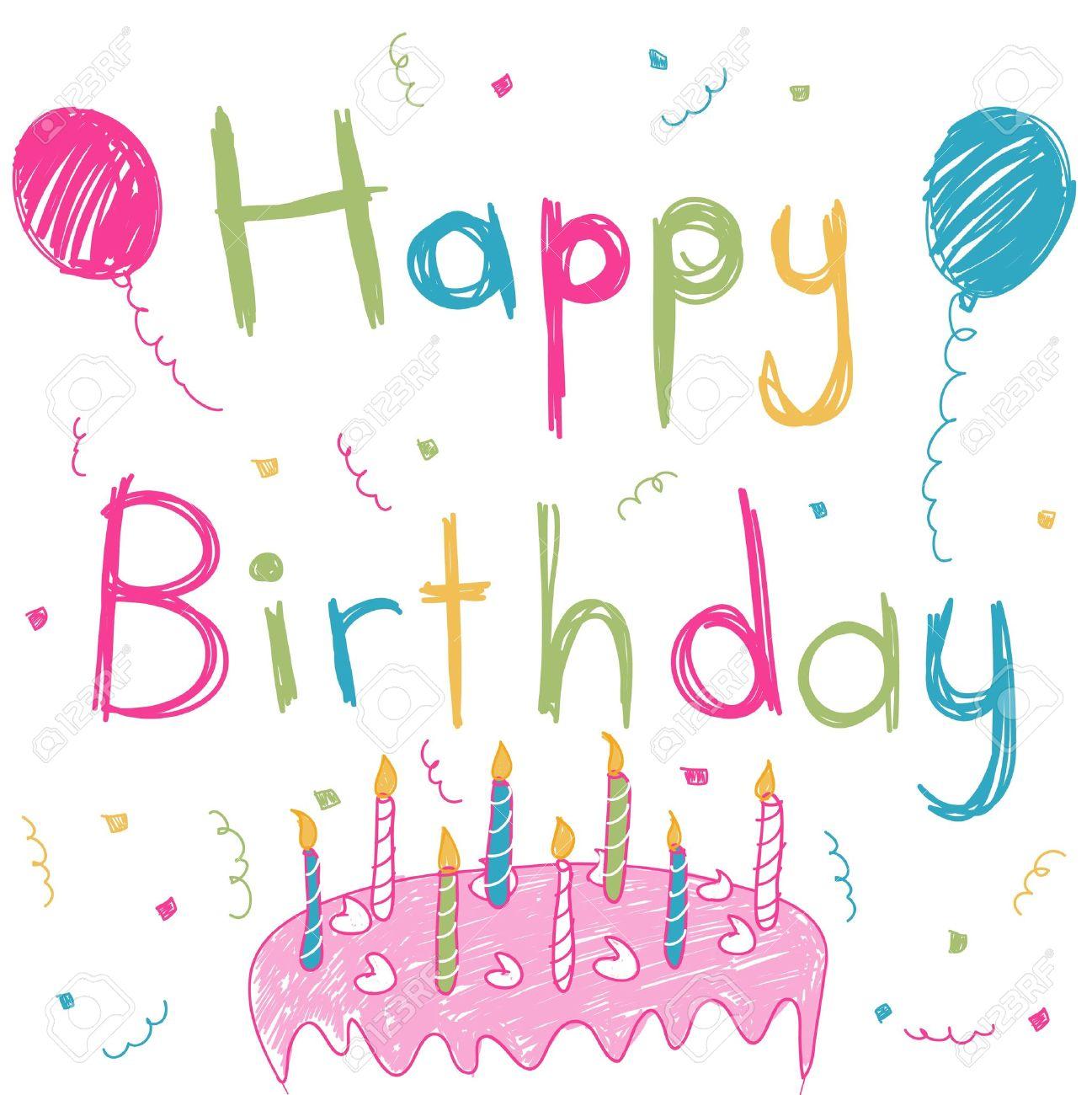 happy birthday card royalty free cliparts, vectors, and stock, Birthday card