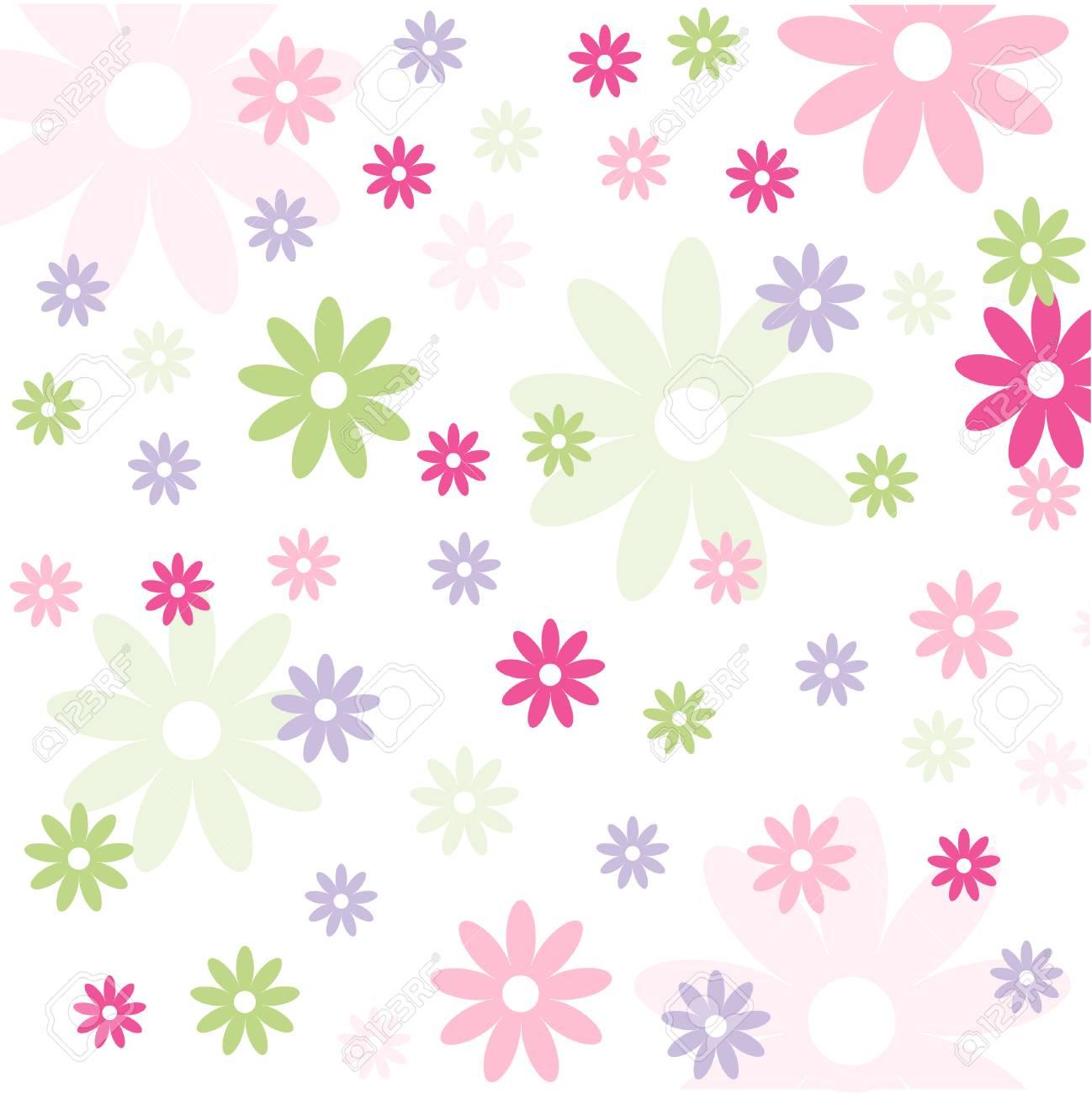 シームレス花柄壁紙のイラスト素材 ベクタ Image