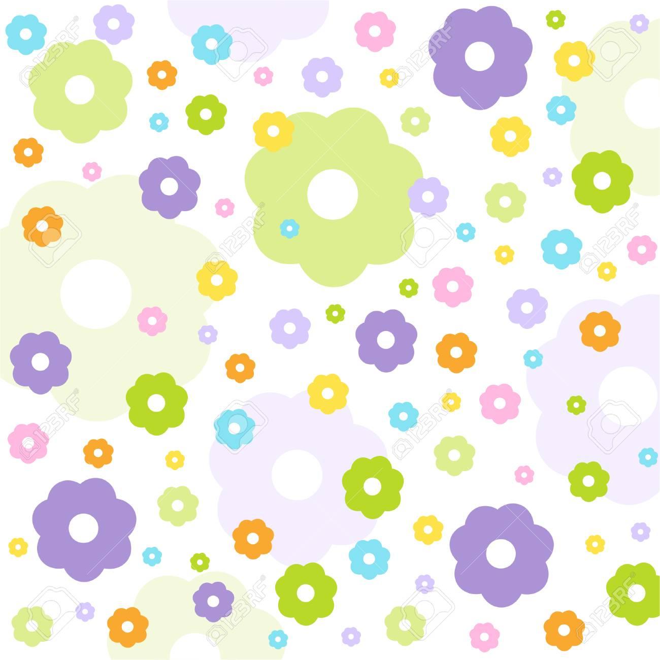 シームレス花柄壁紙のイラスト素材 ベクタ Image 22765942
