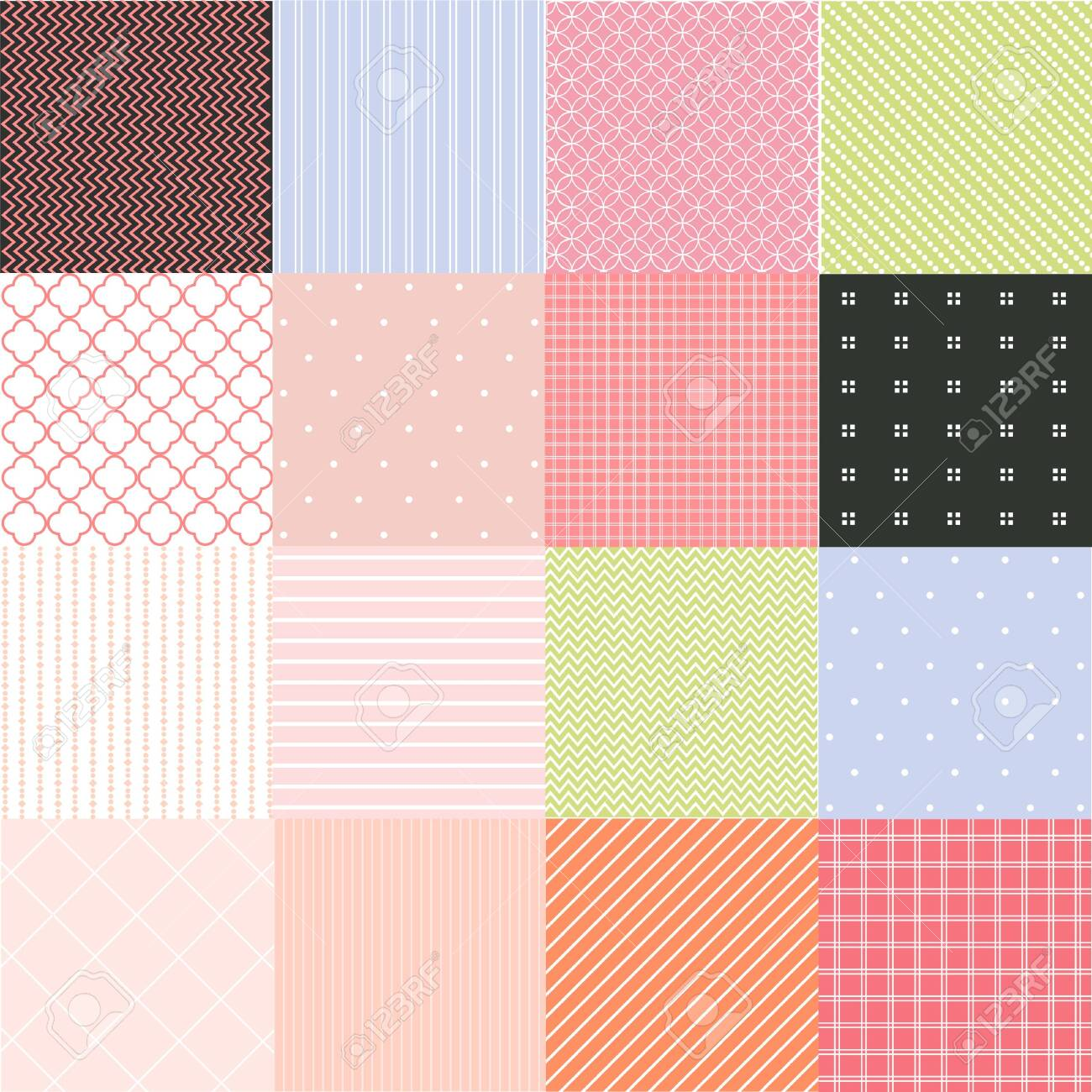 Seamless patterns with fabric texture - 130945346
