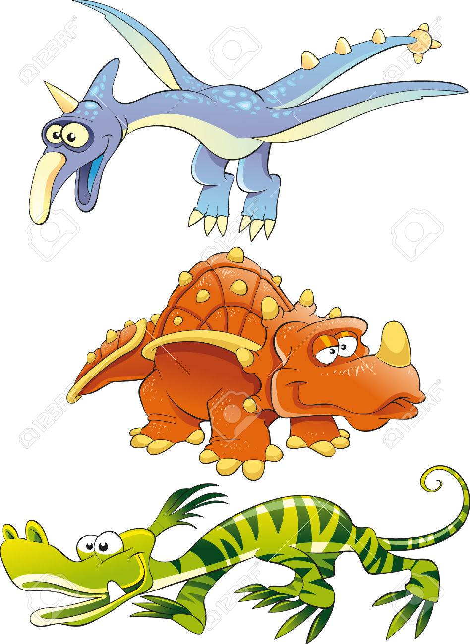Monsters Dinosaurs Stock Vector - 5423316