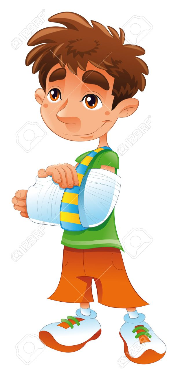 broken arm cartoon and vector character royalty free cliparts rh 123rf com person with a broken arm clipart