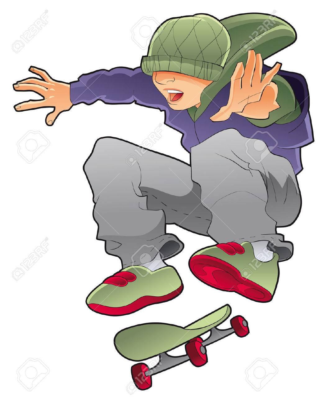 Skateboard clip art images skateboard stock photos amp clipart - Hip Hop Kids Skater Boy Vector Character