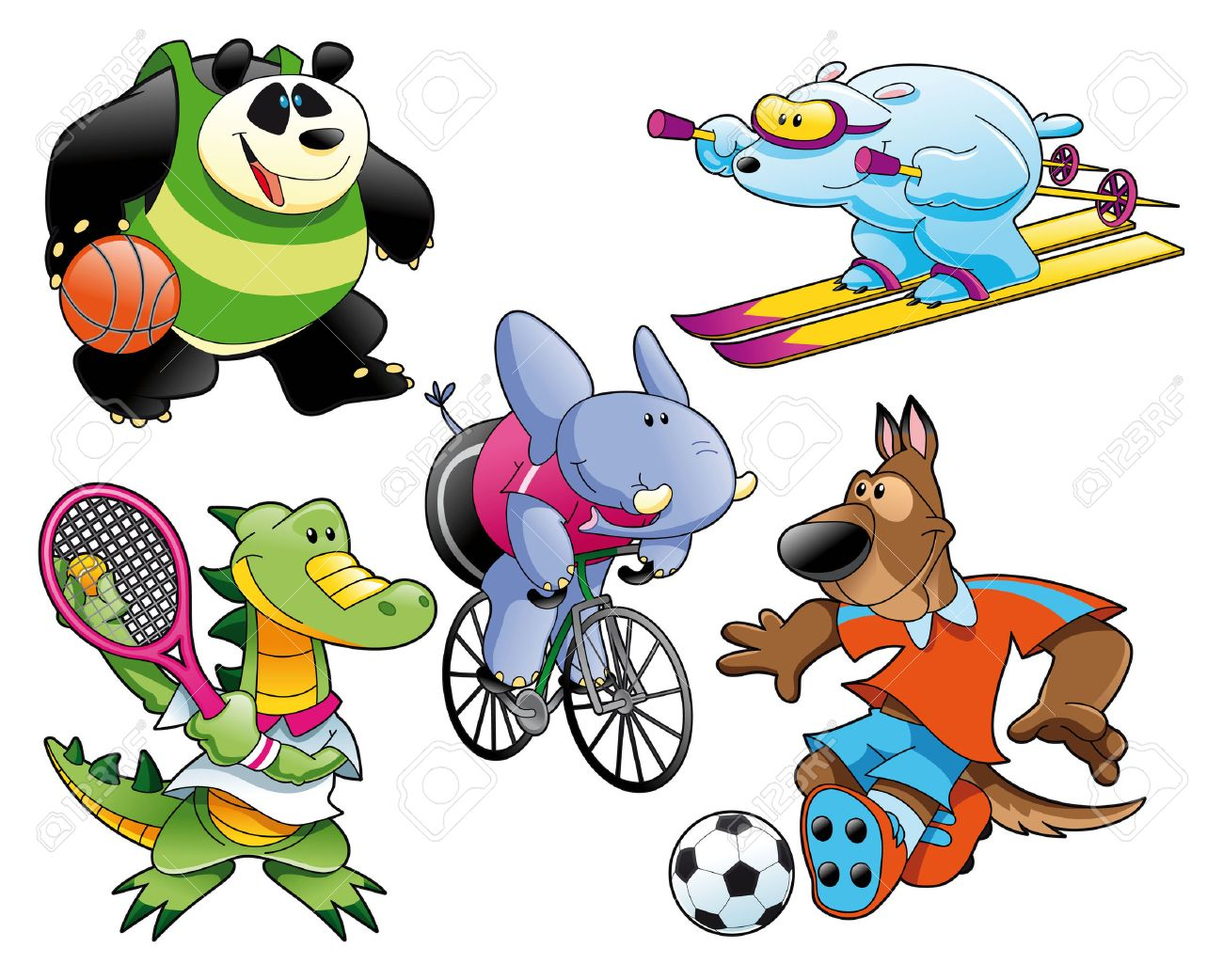 Sport and Animal, , cartoon and vector characters Stock Vector - 5516539