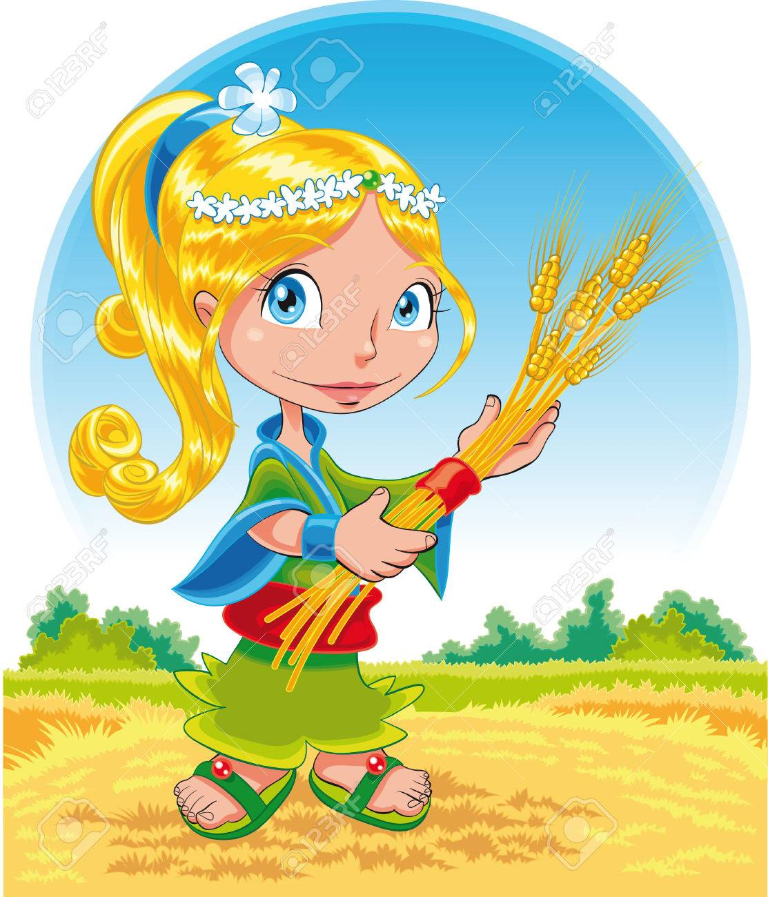 Summer - cartoon and vector illustration Stock Vector - 5539072