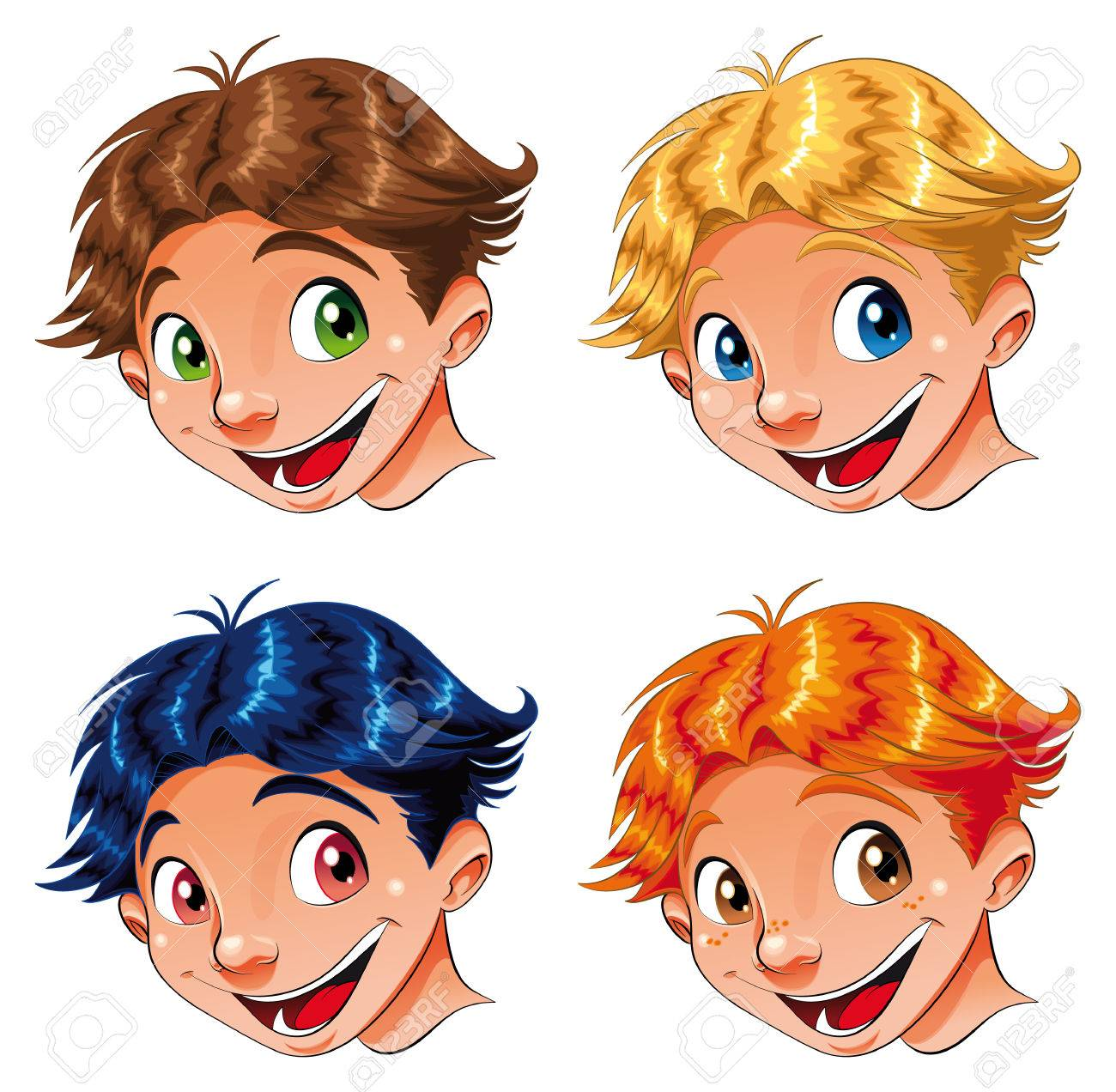 Child Smile, cartoon and vector characters Stock Vector - 5539145