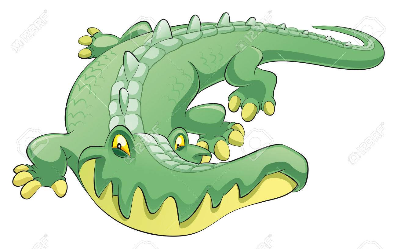 Crocodile, cartoon and vector character Stock Vector - 5539140