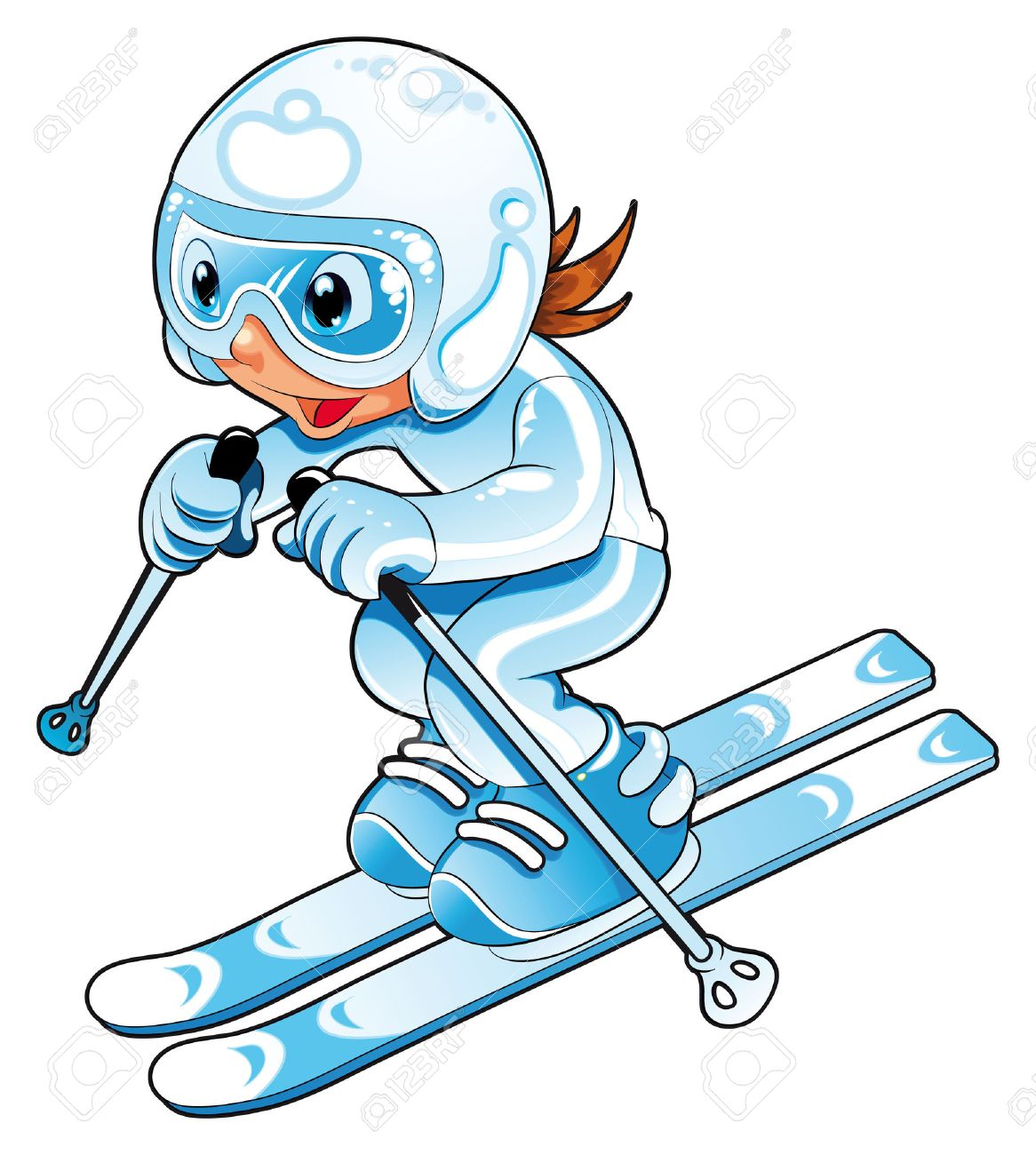 """Résultat de recherche d'images pour """"skieurs dessin"""""""