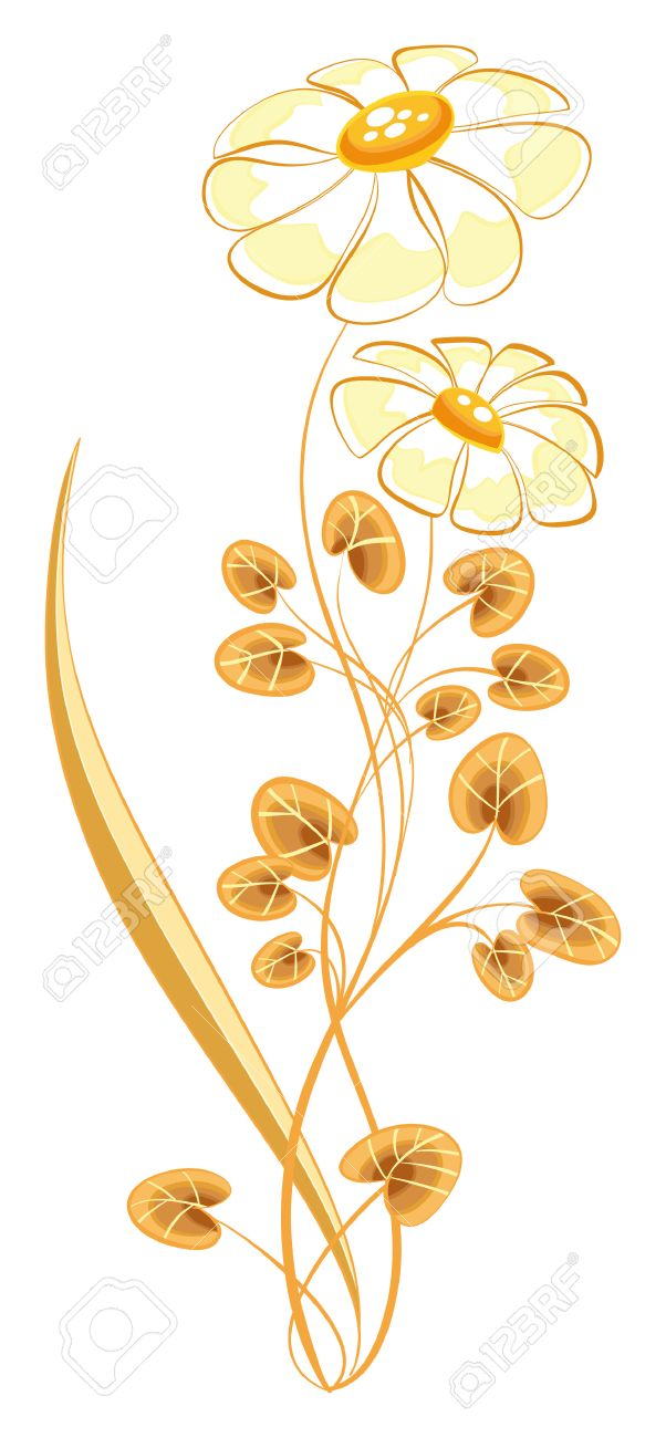 Plant of daisies. Cartoon and vector object. Stock Vector - 5609798
