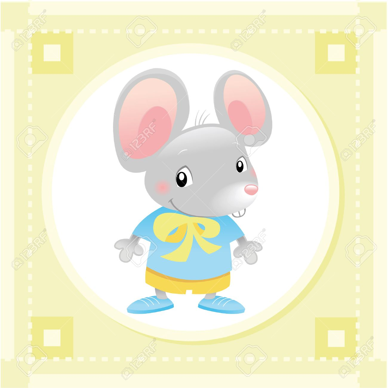 Baby Mouse. Funny cartoon and vector animal character. Stock Vector - 5800267