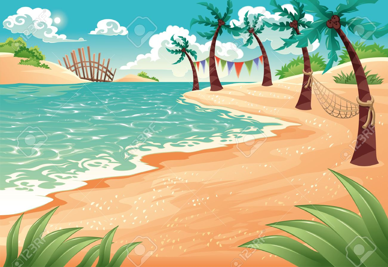Image result for seaside cartoon