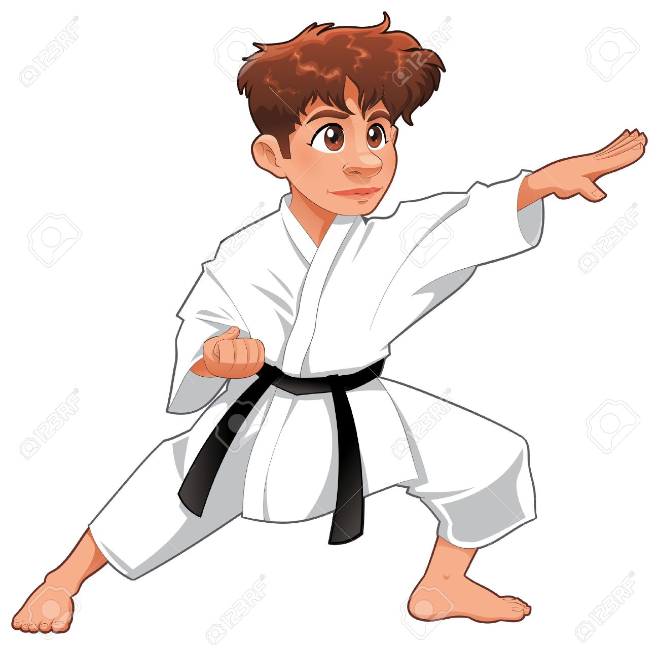baby karate player cartoon isolated character royalty free cliparts rh 123rf com Kung Fu Cartoon Characters Kung Fu Cartoon Characters