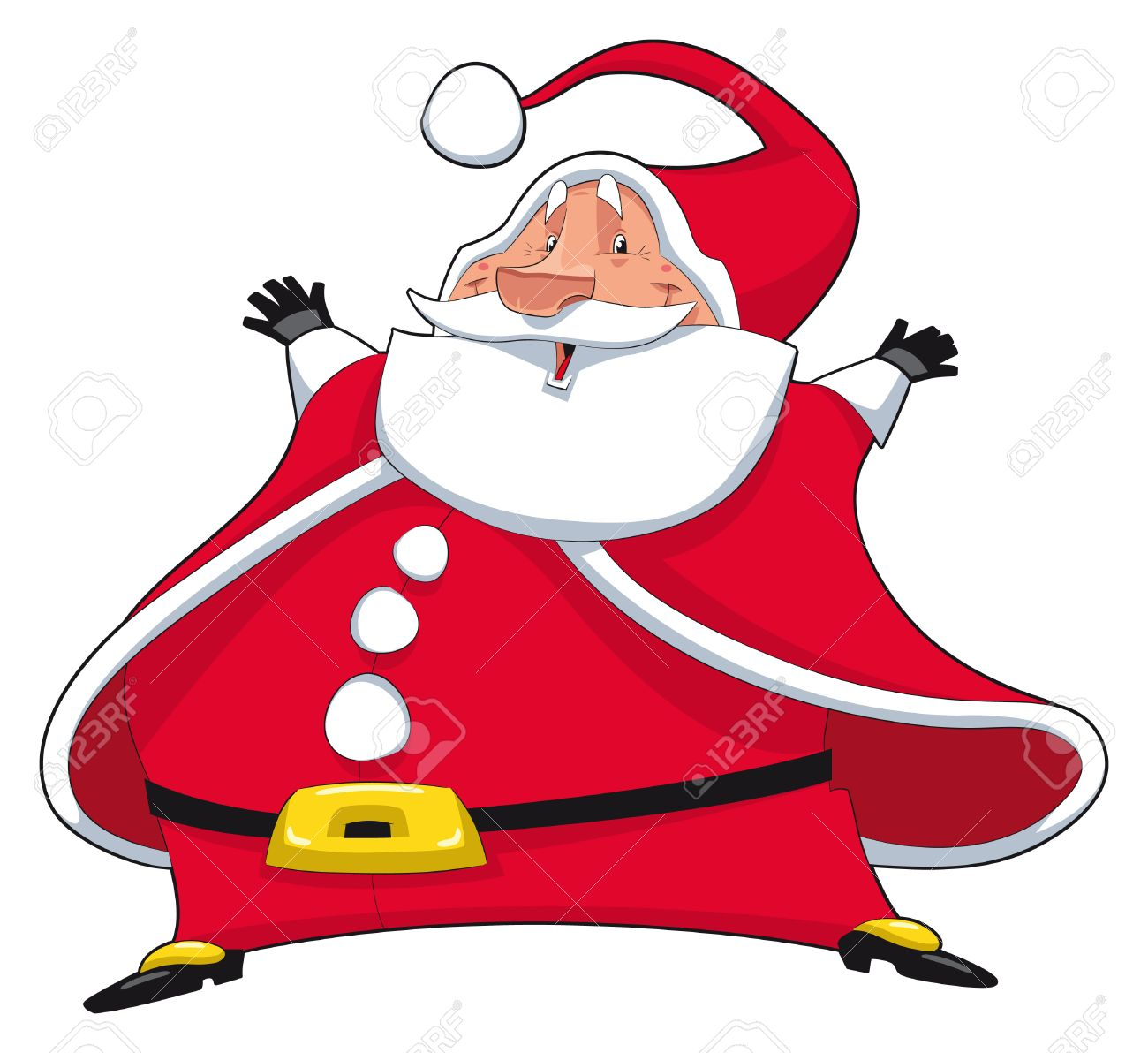Santa Claus. Funny cartoon and  isolated character Stock Vector - 8014801