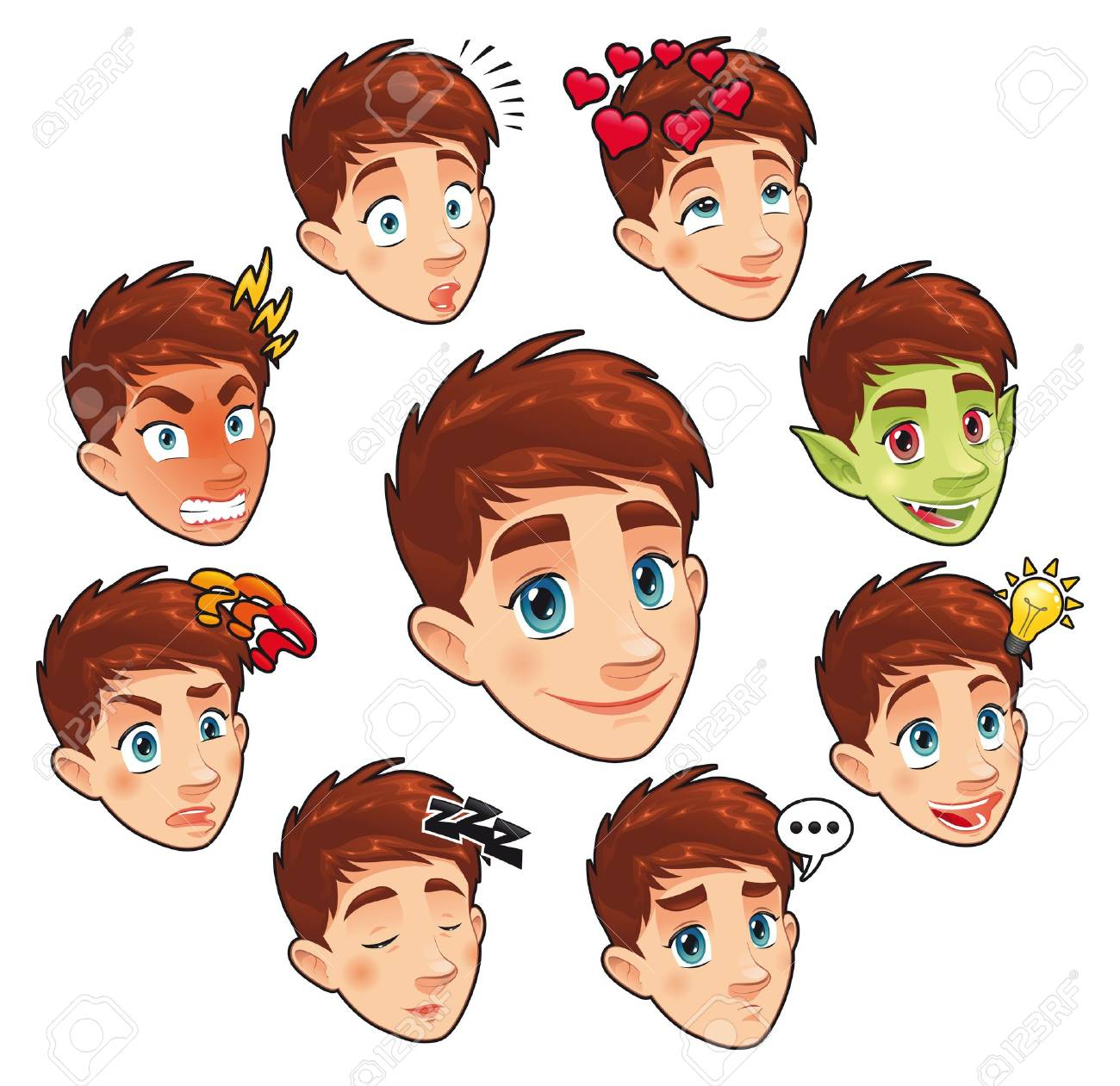 Phenomenal 22 335 Boy Hair Stock Illustrations Cliparts And Royalty Free Boy Hairstyles For Women Draintrainus