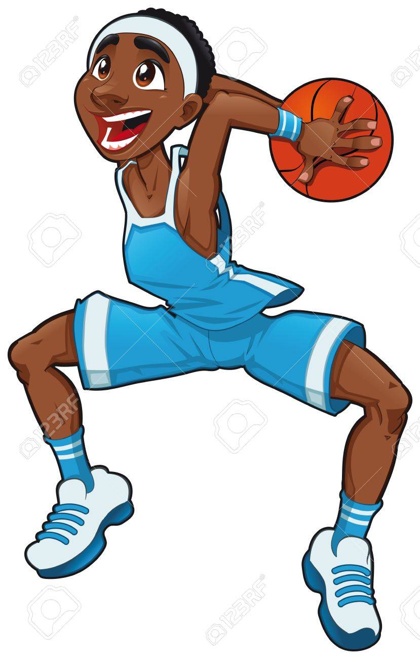 Basketball Boy Funny Cartoon And Vector Isolated Character Royalty Free Cliparts Vectors And Stock Illustration Image 10689840