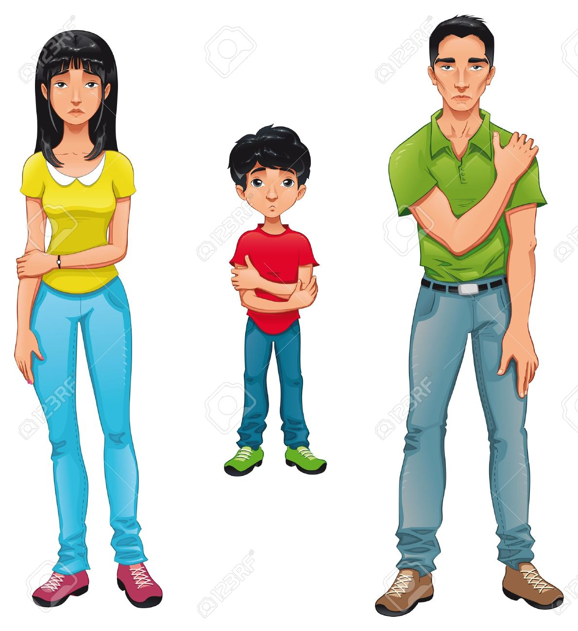 Sick family. cartoon and isolated characters. Stock Vector - 10873771