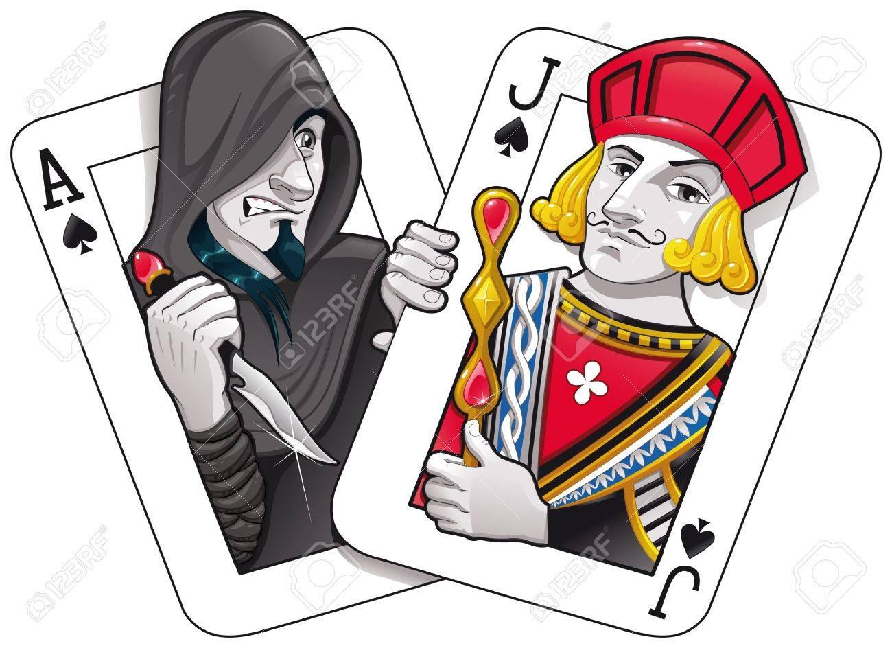 Black Jack. Funny cartoon and vector illustration Stock Vector - 11350272