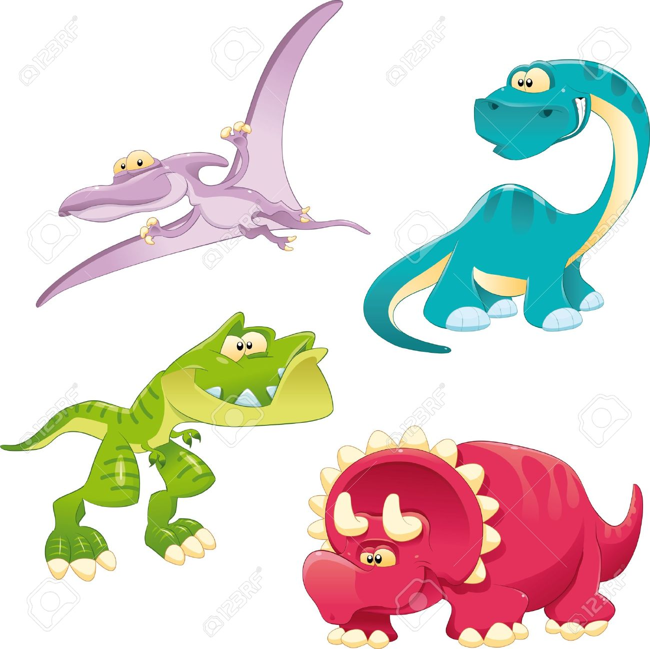 Dinosaurs Family. Funny cartoon and vector characters Stock Vector - 11665573