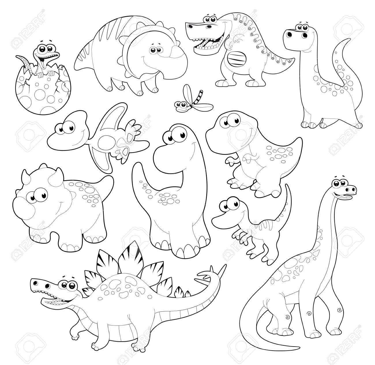Dinosaurs Family. Stock Vector - 13535790