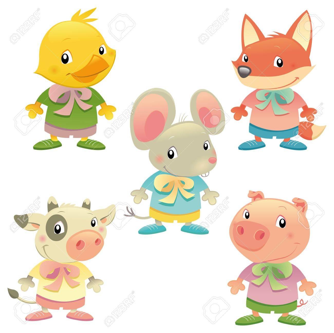 Cute animal family. Stock Vector - 13535796