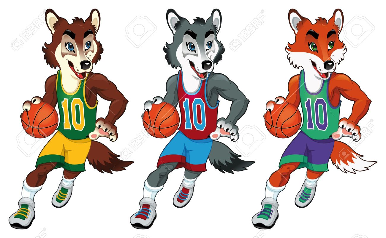 Basketball Mascots Funny Cartoon And Vector Isolated Characters Royalty Free Cliparts Vectors And Stock Illustration Image 13813966