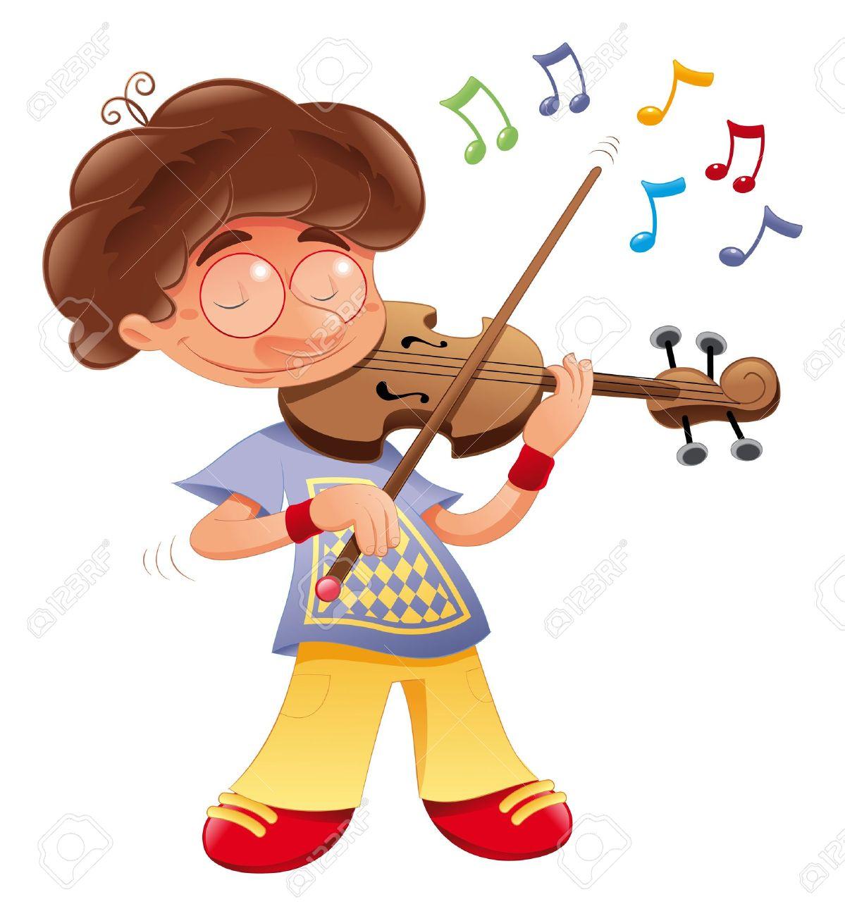 Baby musician. Vector Cartoon isolated character Stock Vector - 16879283