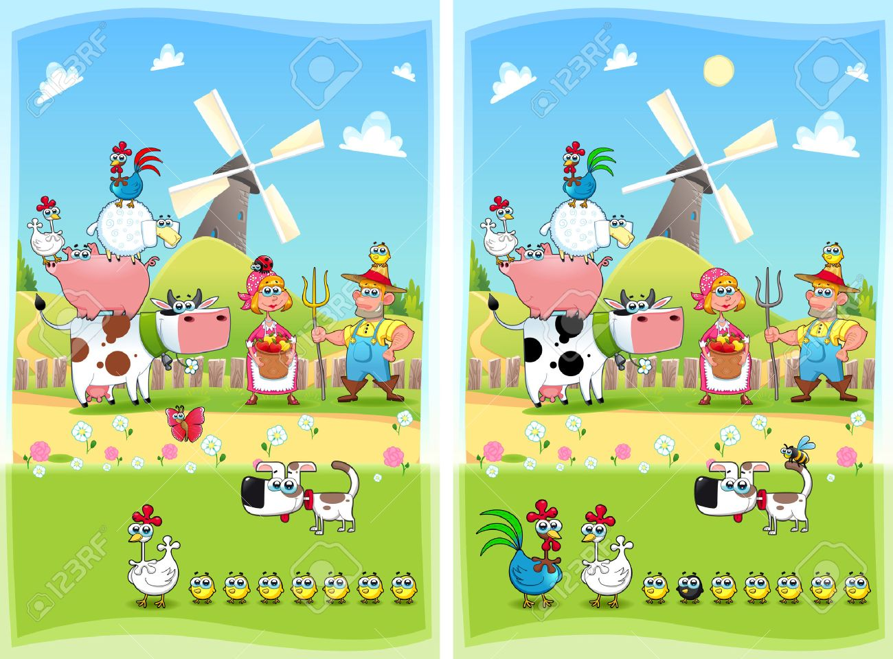 1280 spot the differences stock vector illustration and royalty spot the differences two images with ten changes between them vector and cartoon illustrations altavistaventures Images